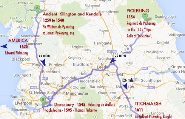 Pickering Family History Cheshire England